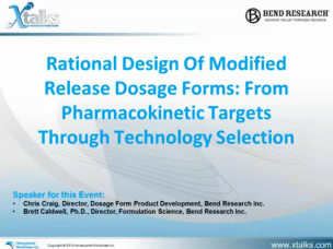 Webinar - Rational Design of Modified Release Dosage Forms